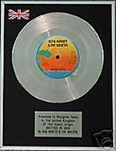 "BOB MARLEY - 7"" single -Platinum Disc - WAITING IN VAIN"